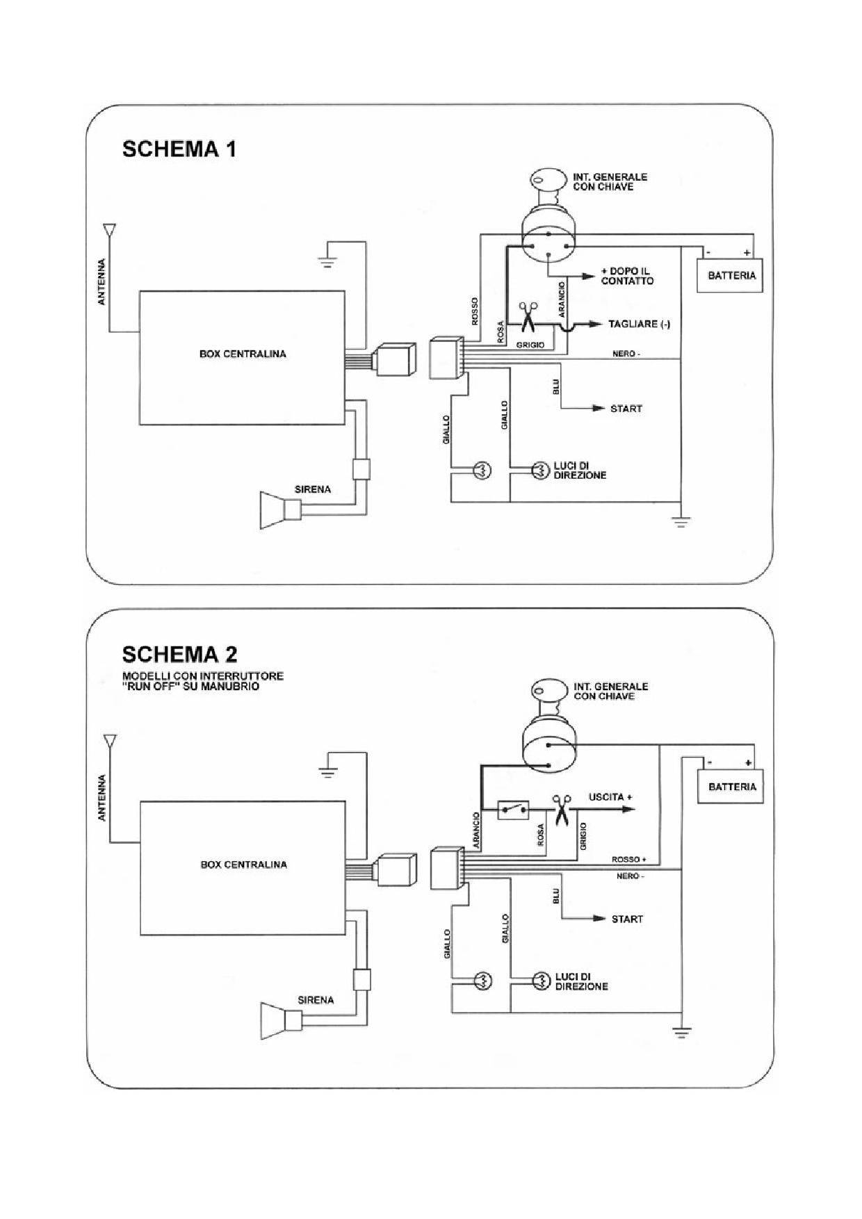 Schema Elettrico Blocchetto Avviamento : Schema collegamento blocchetto accensione sistema di