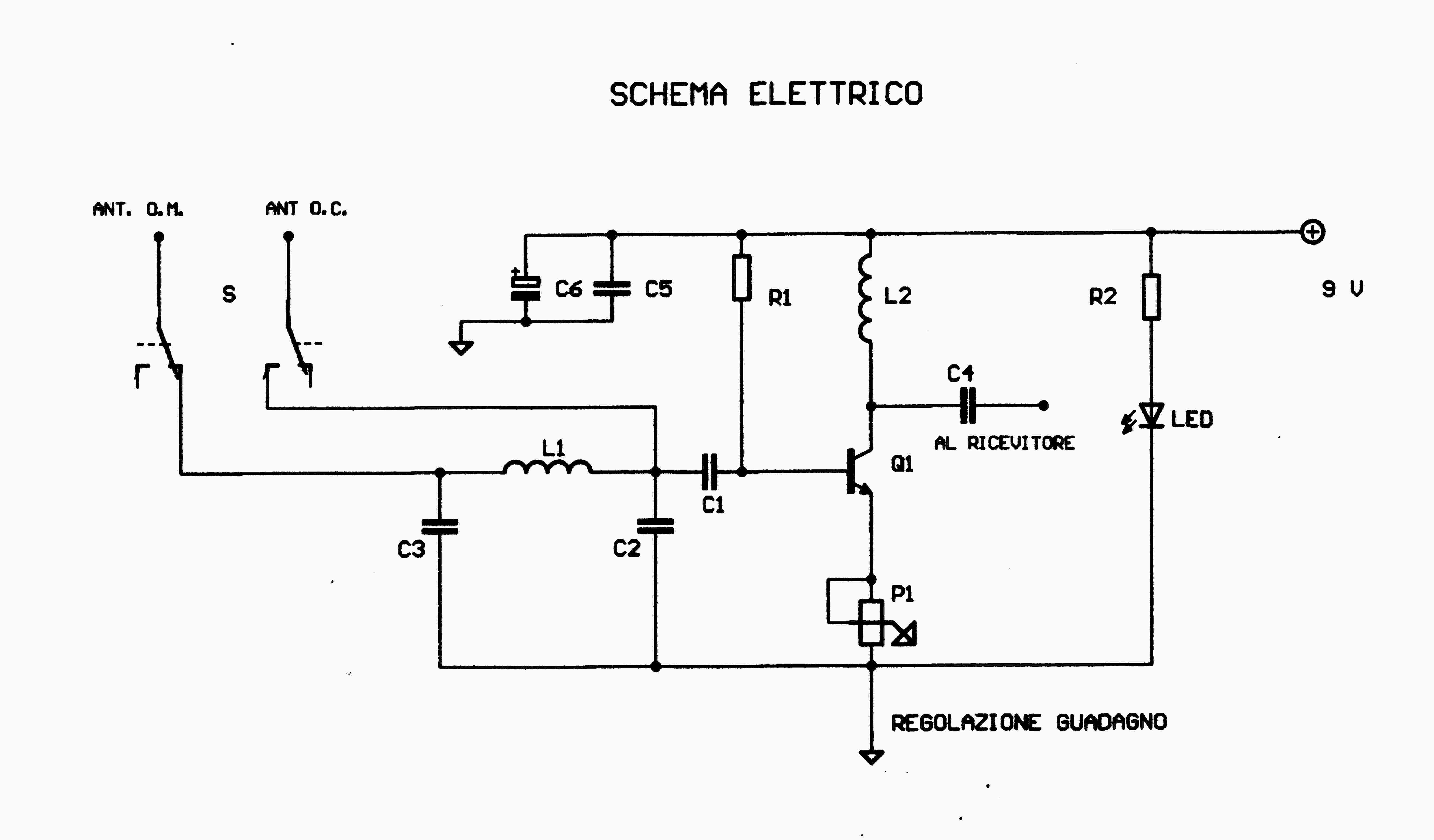 Schema Elettrico Per Antenna Tv : Amplificatore am per onde medie