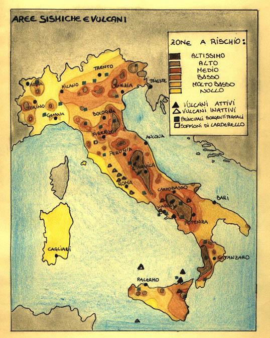 Aree sismiche in italia for Rischio sismico in italia