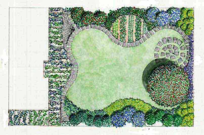 Giardino villetta lecchese for Progetto giardino villetta