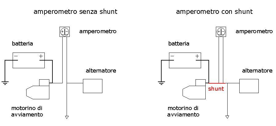 Schema Elettrico Voltmetro Per Auto : Montaggio voltmetro e amperometro