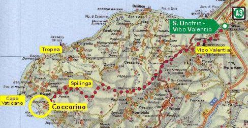 Reggio Calabria Cartina Geografica.Case Al Mare In Calabria A Capo Vaticano A Coccorino Cartina Stradale
