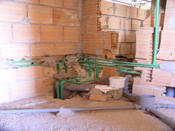 Profondit tracce impianto idraulico infissi del bagno - Impianto idraulico del bagno ...