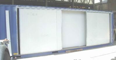 Fabbrica containerbox shelter speciali per l 39 industria - Binari x porte scorrevoli ...